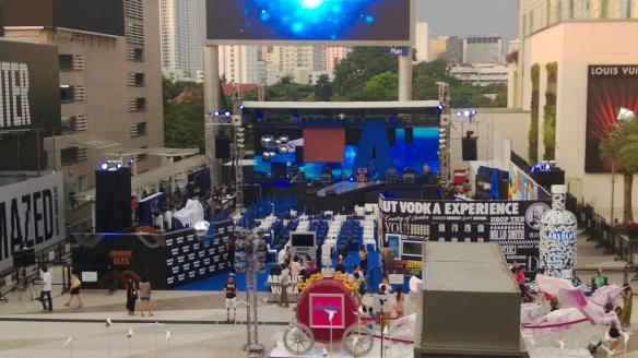The Absolut beer park outside Siam Paragon mall