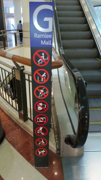 There are a lot of rules to ride the escalators. I obviously broke one rule by taking a picture of it...