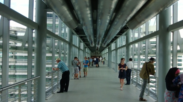 The skybridge connecting the two Petronas Towers