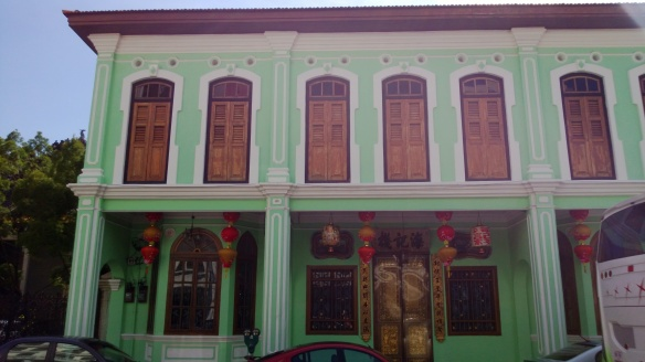 A typical colonial building in Chinatown area of Georgetown