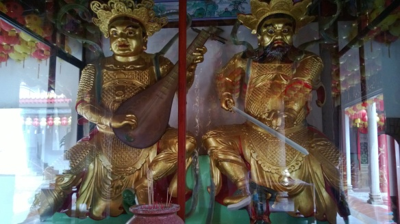 Statues in one of the temples of the complex.
