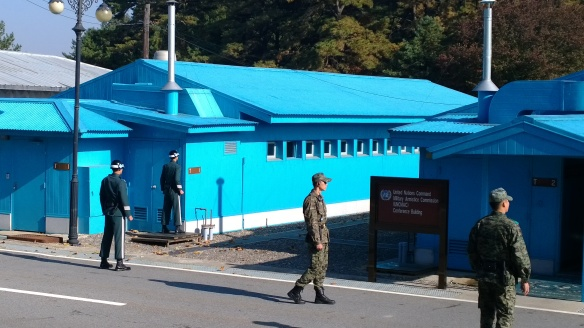 The UN buildings in the Joint Security Area