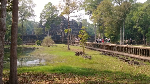 Stone walkway entrance to Baphuon Temple at Angkor Thom