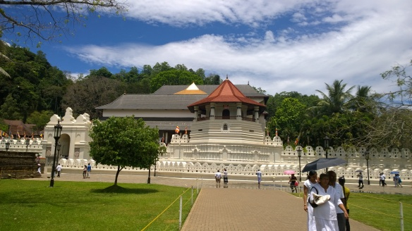 The Temple of the Tooth in Kandy.
