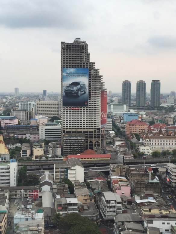 """The Sathorn Unique building, aka the """"Bangkok Ghost Tower"""""""