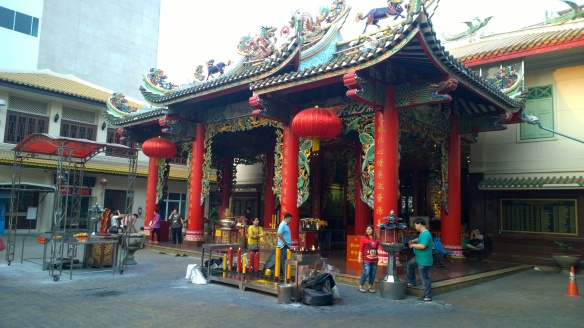 A Chinese temple in Chinatown